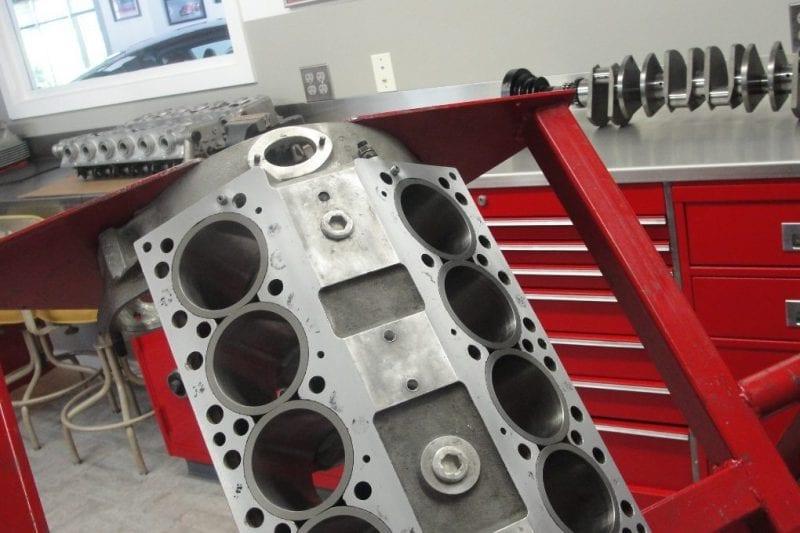 Vintage Ferrari engine work