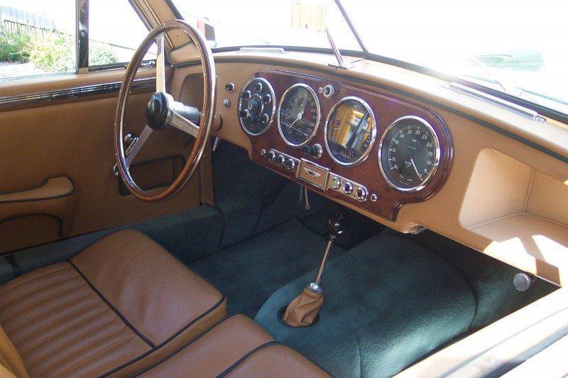 Aston Martin DB2 interior restoration
