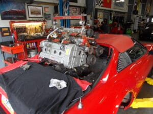 Ferrari engine out service