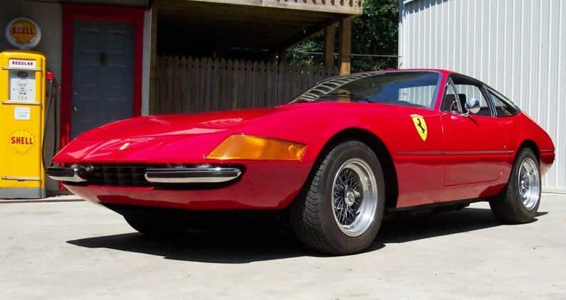 Ferrari Daytona after rust autobody and paint correction