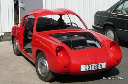 Fiat Abarth double bubble during body restoration