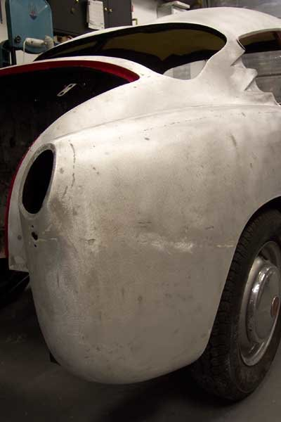 Fiat Abarth double bubble stripped