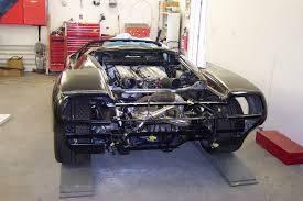 Lamborghini Diablo body repairs after fire damage