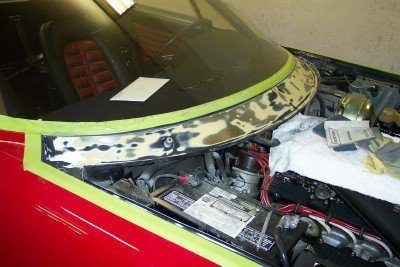Ferrari Daytona after cowl paint repair