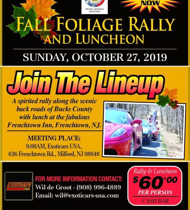 2019 Fall Foliage Rally and Luncheon